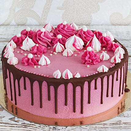 pink cake online:Send Daughters Day Cakes