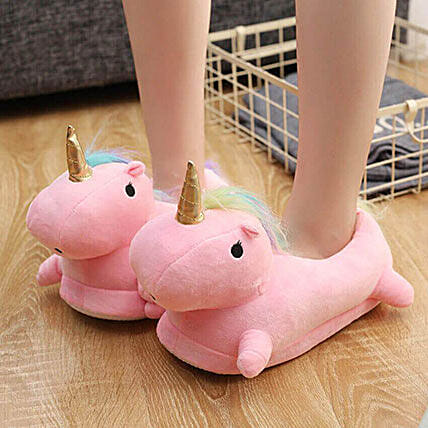 Pink unique slippers:Funny Gifts