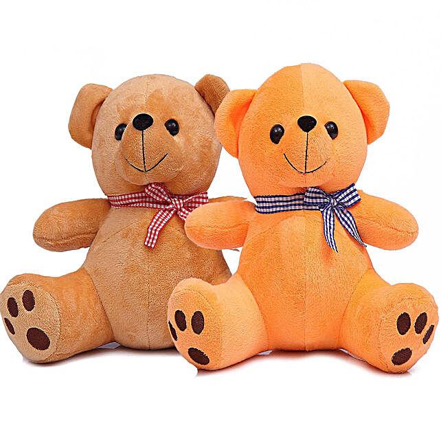 Poppy Teddy Bear Combo Brown Orange