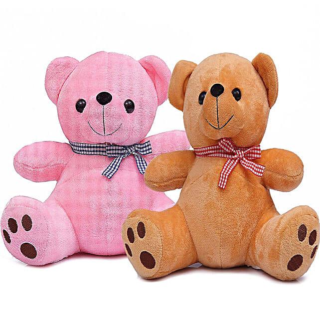Poppy Teddy Bear Combo Pink Brown
