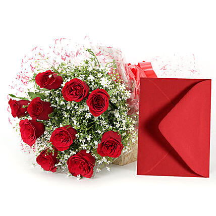 Red roses bouquet:Flower Delivery in Rajnandgaon
