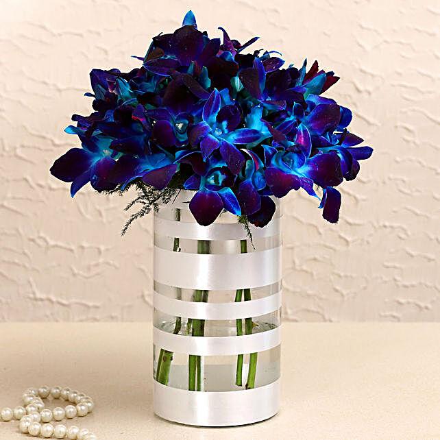 Premium Blue Orchids Arrangement