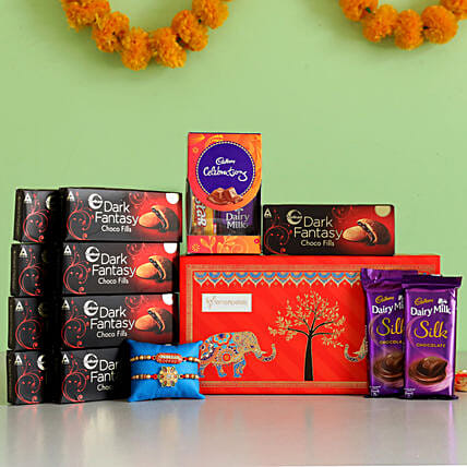 Online Rakhi with Chocolate Box:Rakhi With Other Gifts