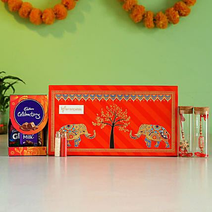 Premium Nok-Jhonk Red Rakhi Box