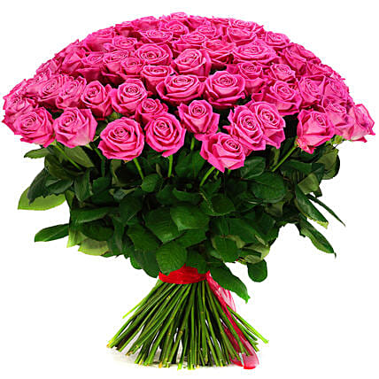 Pretty In Pink Roses Bunch