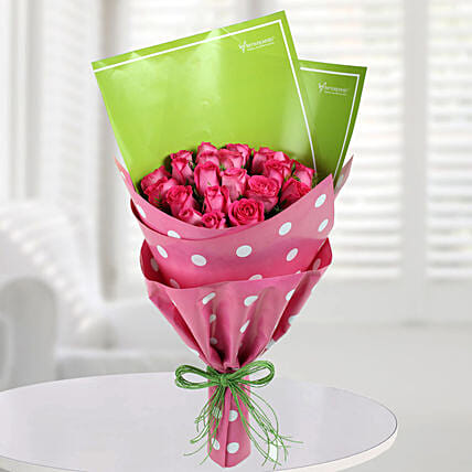 25 Pink Roses Bouquet Online