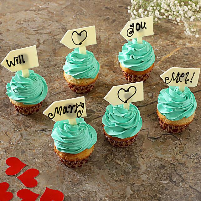 Propose With Vanilla Cream Cup Cakes:Send Cupcakes