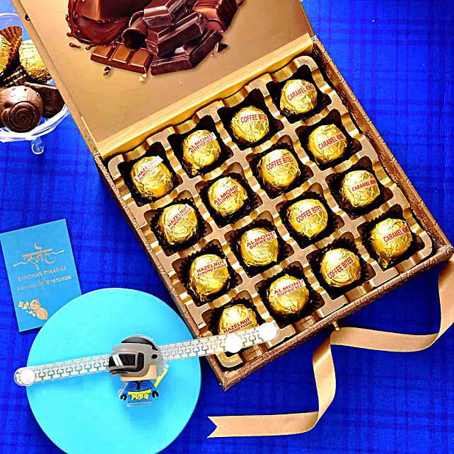 PUBG Gamer Rakhi N Assorted Chocolate Box