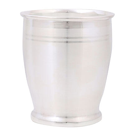 Silver Glass Tumbler For Baby