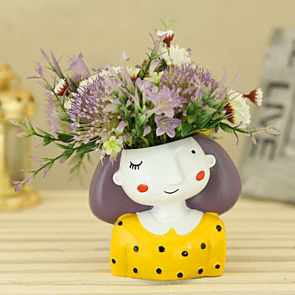 Quirky Artificial Flowers in Pot