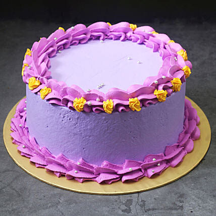 Purple Vanilla Cream Cake