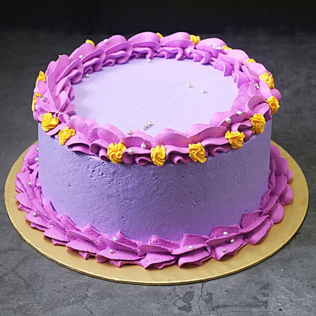 Purple Vanilla Cream Cake