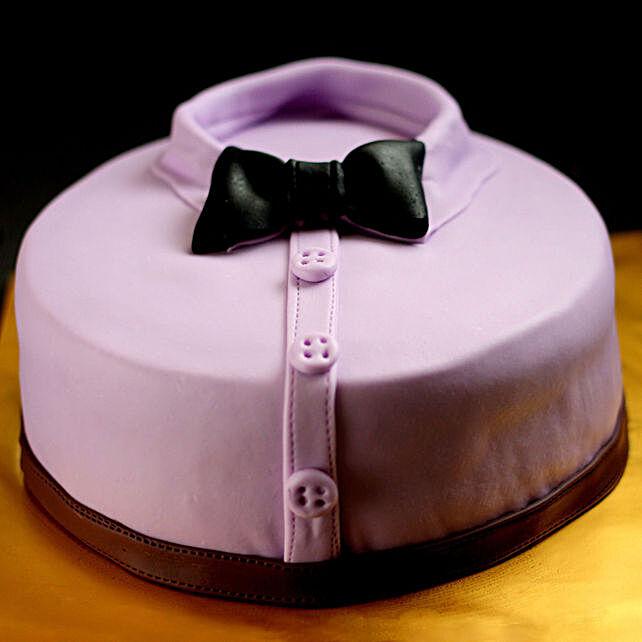 OnlinePurple Shirt & Bow Truffle Cake