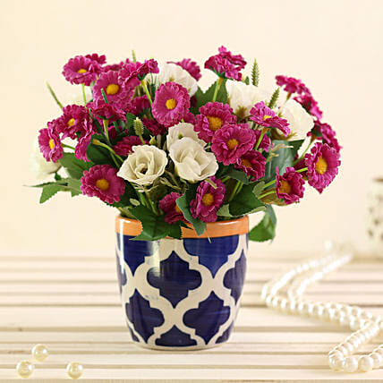 online Purple & White Artificial Flowers:Artificial Flowers