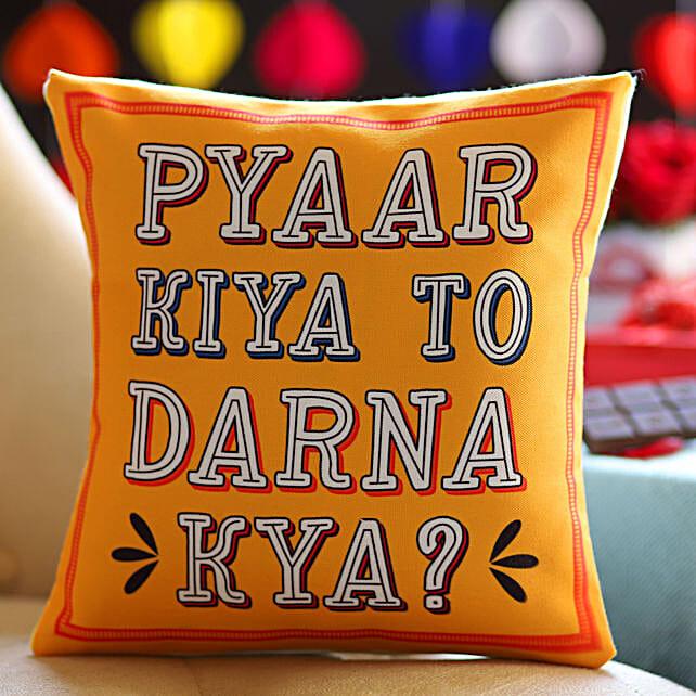 Printed Cushion for Love