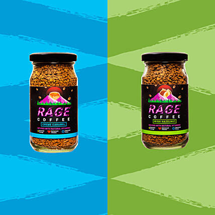 Rage Irish Hazelnut And Creme Caramel Instant Coffee:Send Gourmet Gifts