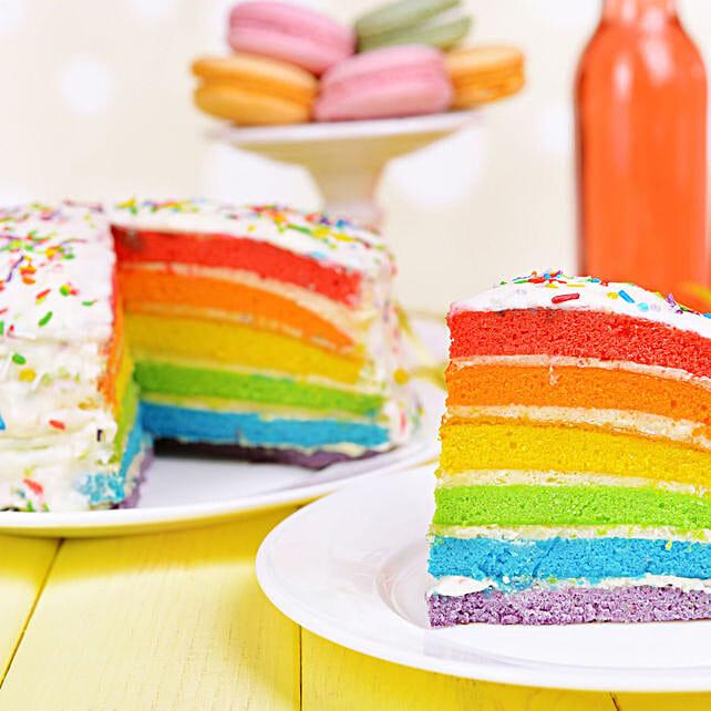 rainbow cake for kids:Happy Holi Cake