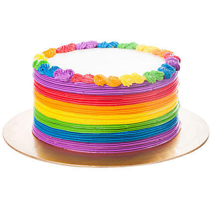 Designer Rainbow Pineapple Cake:Cake to Welcome Baby