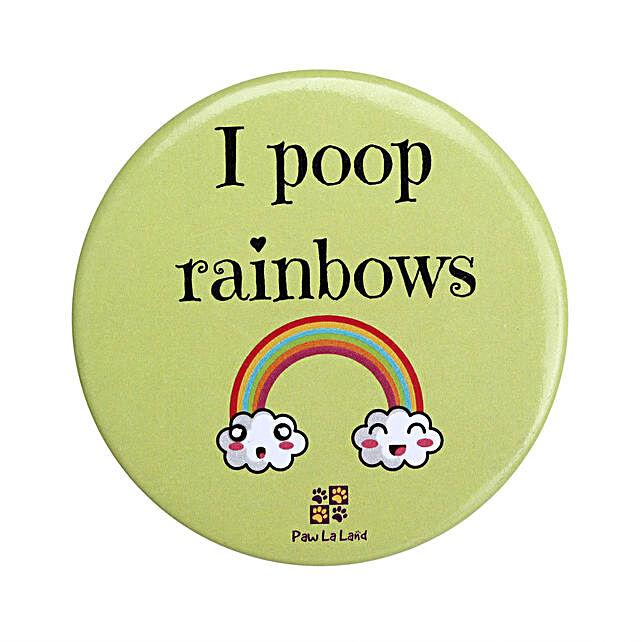 Rainbow Poop Wardrobe Magnet
