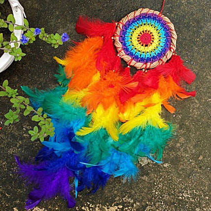 rainbow small dreamcatcher send
