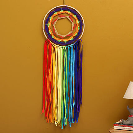 Rainbow Spiral Dreamcatcher