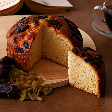 Delicious Raisins and Dates Dry Cake Online