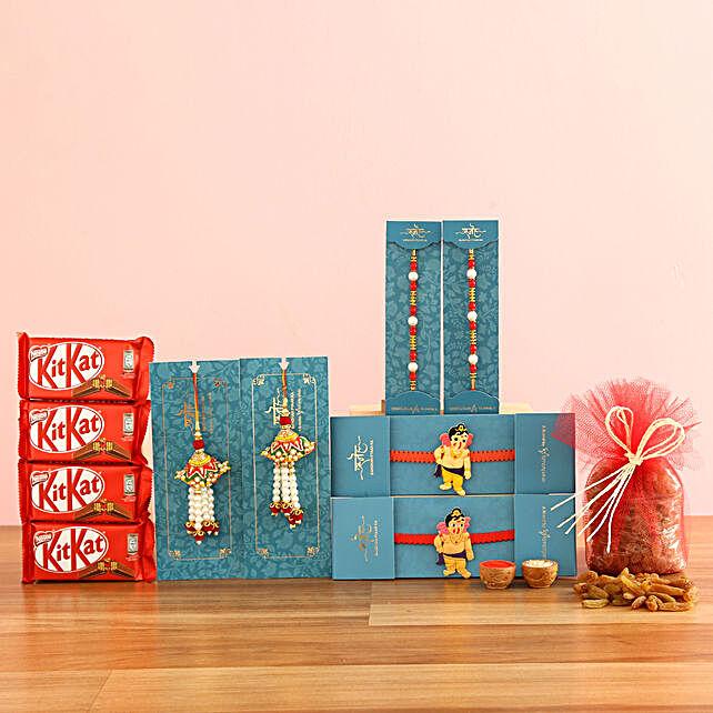 online Raisins & KitKat With Set Of 6 Rakhis