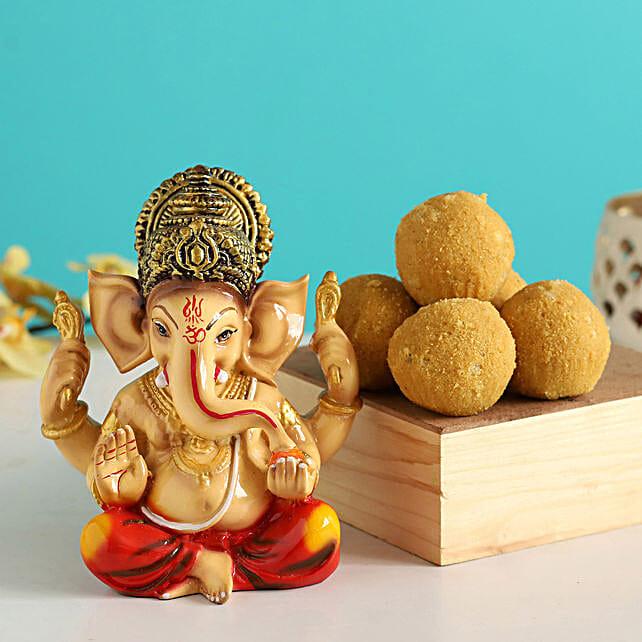 Raja Ganesha Idol & Besan Laddu:Diwali All Gifts