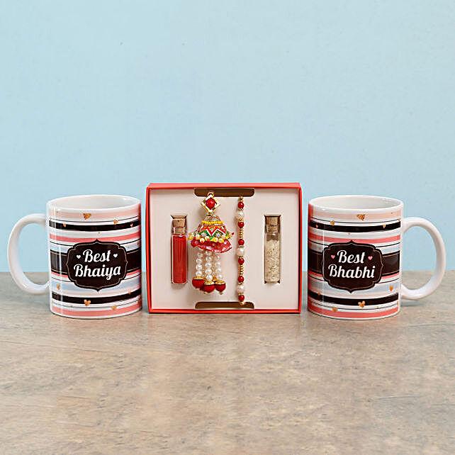 Printed Mug and Rakhi Set Online