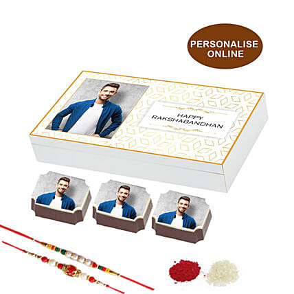 online rakhi & picture chocolate box- 18 pcs