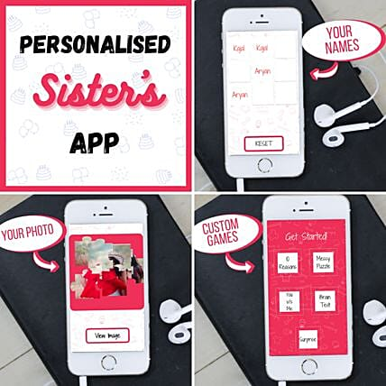 Rakhi Puzzle Personalised APP For Sister