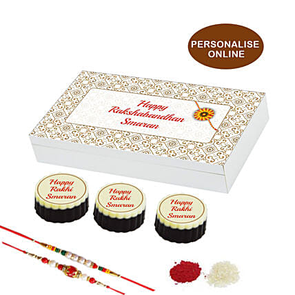 online rakhi special personalised chocolate box- 12 pcs
