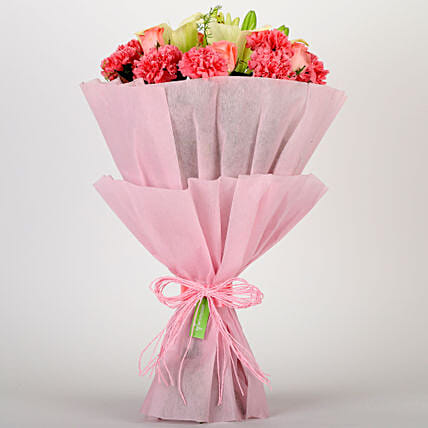 Pink Style Gifts:House Warming Flowers