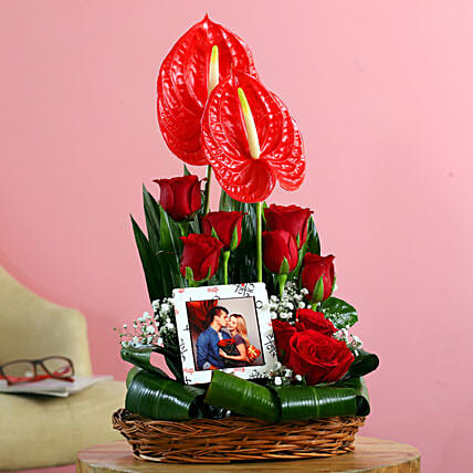 Buy Online Personalised Flower:Send Anthuriums