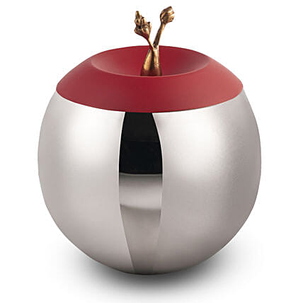 Online Red Apple Bowl:Send Home Decor for Wedding