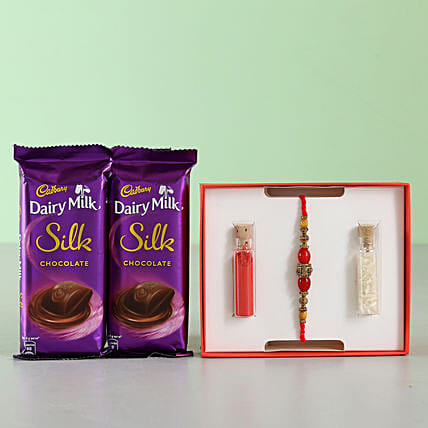 rakhi with silk chocolate for bro