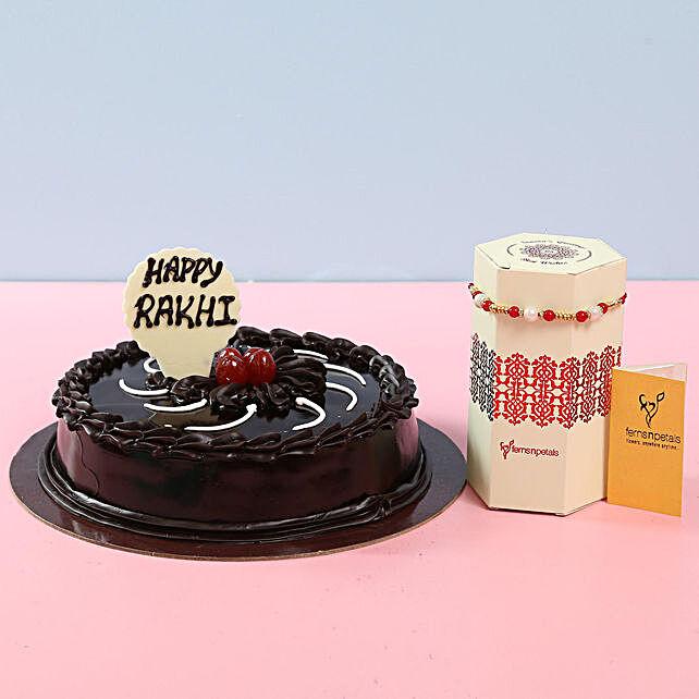 Best designer rakhi with truffle cake online