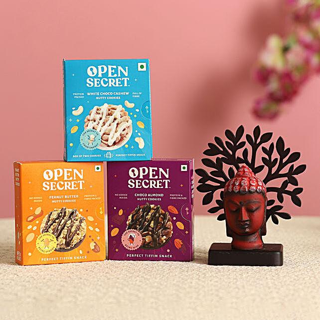 Red Buddha Face Idol & Cookies Combo