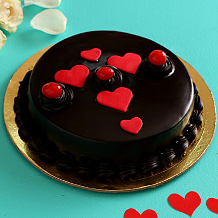 Truffle Cake for Valentines Day:Rose Cakes