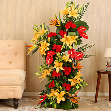 Online Colorful Flower Bouquet Arrangement:Send Anthuriums