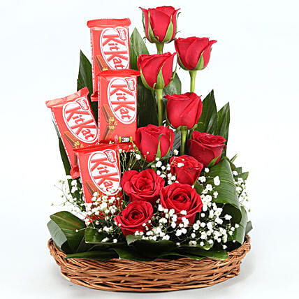 flowers chocolate arrangement for anniversary online