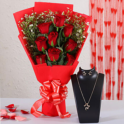 online floral bouquet for necklace online:Valentines Day Jewellery