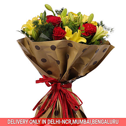 Roses and Carnation Bouquet Online