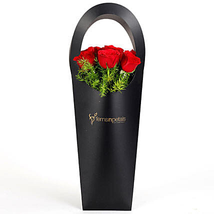 Lovely red roses bunches in attractive sleeve