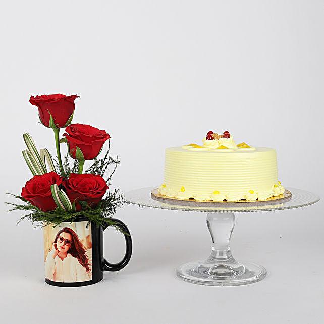 Triple combo of roses  printed mug or cake