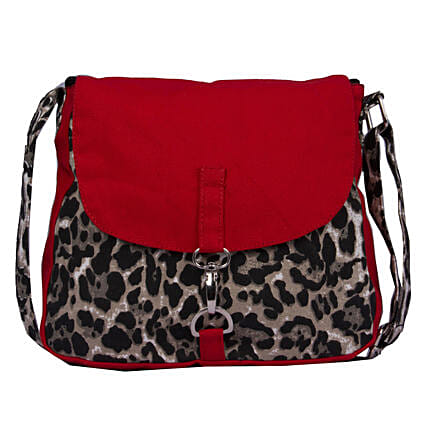 Online  Printed Solid Flap Canvas Cross-Body