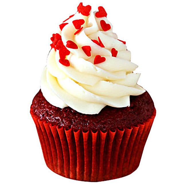 Red Velvet Cupcakes 12 Eggless