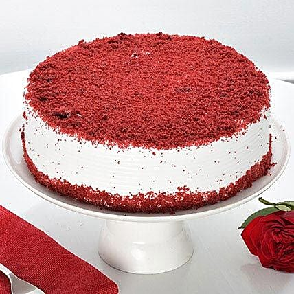 Red Velvet Fresh Cream Cakes Half Kg Eggless