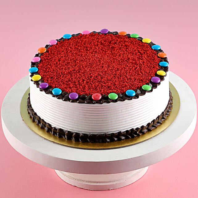 Online Red Velvet Gems Cake:Red Velvet Cake Order