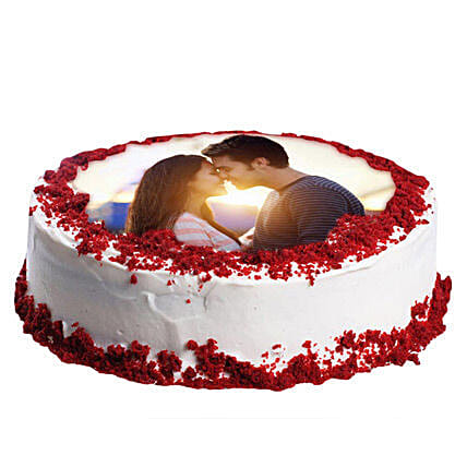Red Velvet Photo Cake 1kg:Cake Delivery In Wardha